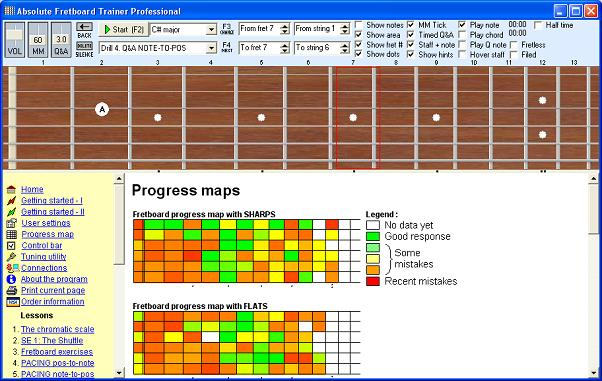 Absolute Fretboard Trainer screen shot